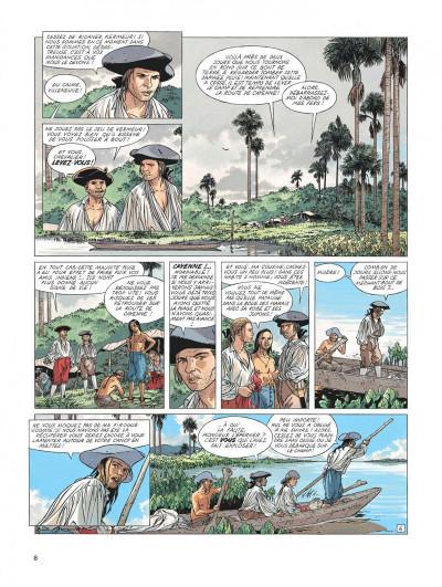 Page 8 l'Epervier tome 6 - les larmes de Tlaloc