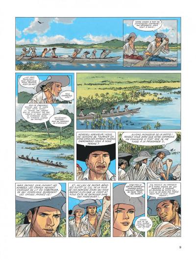 Page 9 l'Epervier tome 6 - les larmes de Tlaloc