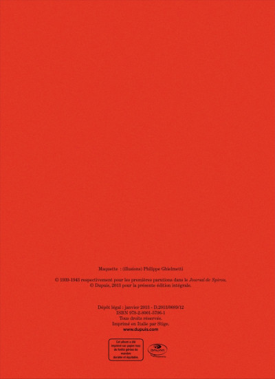 Page 1 Spirou - intégrale tome 0 - Par Rob-Vel (1938-1943)