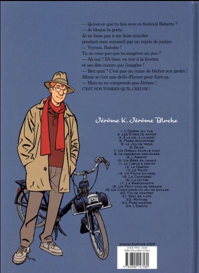 Dos Jérôme K. Jérôme Bloche tome 24