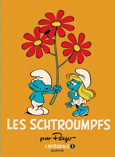 Couverture Les Schtroumpfs - intégrale tome 1