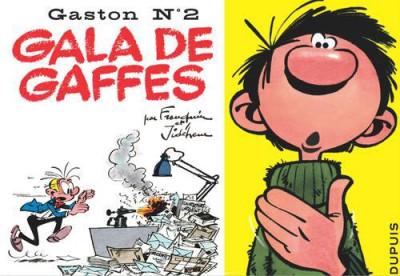 Couverture Gaston tome 2 - version italienne -  gala de gaffes