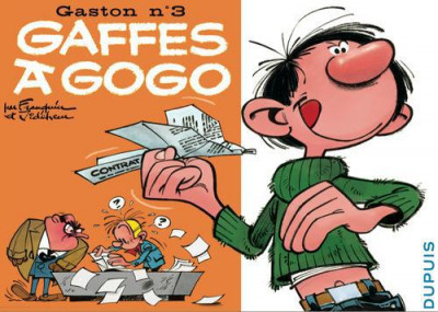 Couverture Gaston tome 3 - version italienne - gaffes à gogo