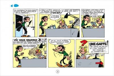 Page 2 Gaston tome 3 - version italienne - gaffes à gogo