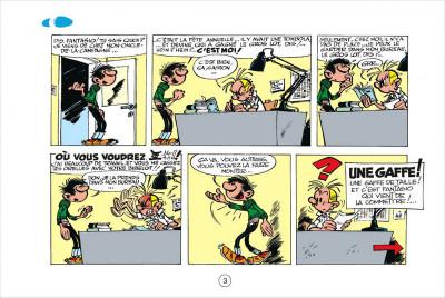 Page 3 Gaston tome 3 - version italienne - gaffes à gogo