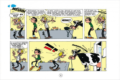 Page 6 Gaston tome 3 - version italienne - gaffes à gogo