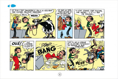 Page 8 Gaston tome 3 - version italienne - gaffes à gogo