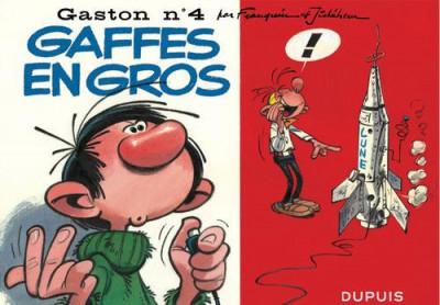 Couverture Gaston tome 4 - version italienne - gaffes en gros