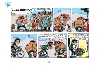 Page 5 Gaston tome 4 - version italienne - gaffes en gros