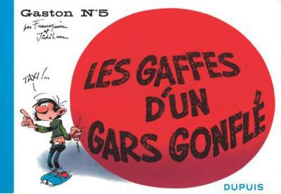 Couverture Gaston tome 5 - version italienne - les gaffes d'un gars gonflé