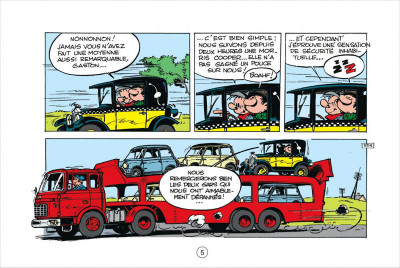 Page 5 Gaston tome 5 - version italienne - les gaffes d'un gars gonflé