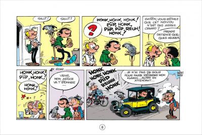 Page 8 Gaston tome 5 - version italienne - les gaffes d'un gars gonflé