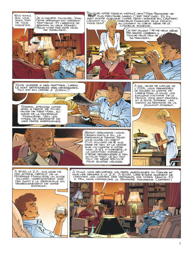 Page 7 Largo Winch tome 4 - business blues