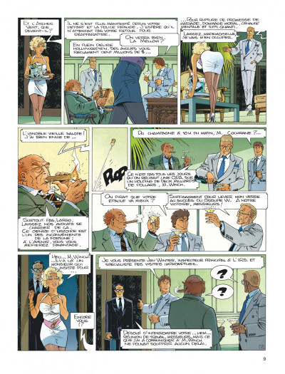 Page 9 Largo Winch tome 4 - business blues