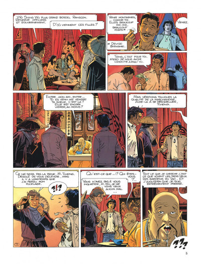 Page 5 Largo Winch tome 8 - l'heure du tigre