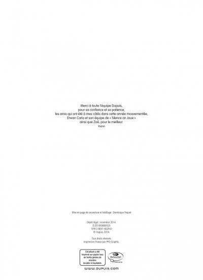 Page 2 Spirou et Fantasio tome 54 - Le Groom De Sniper Alley