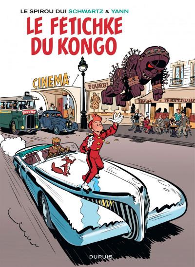 Couverture Spirou vu par.. Schwartz et Yann : le fetichke du Kongo (bruxellois)