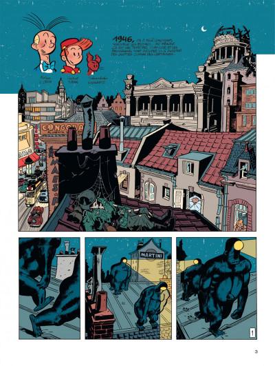 Page 3 Spirou vu par.. Schwartz et Yann : le fetichke du Kongo (bruxellois)