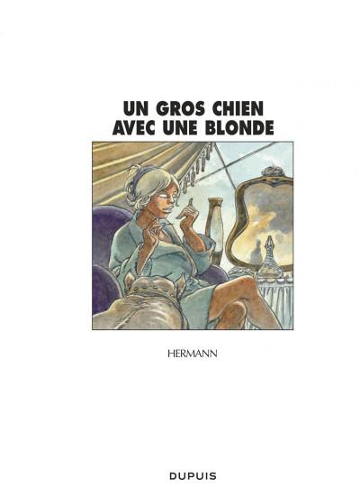 Page 1 jeremiah tome 33 - un gros chien avec une blonde