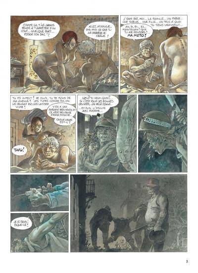 Page 3 jeremiah tome 33 - un gros chien avec une blonde