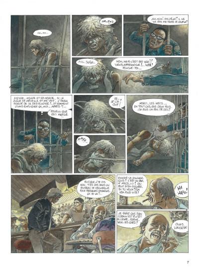 Page 7 jeremiah tome 33 - un gros chien avec une blonde