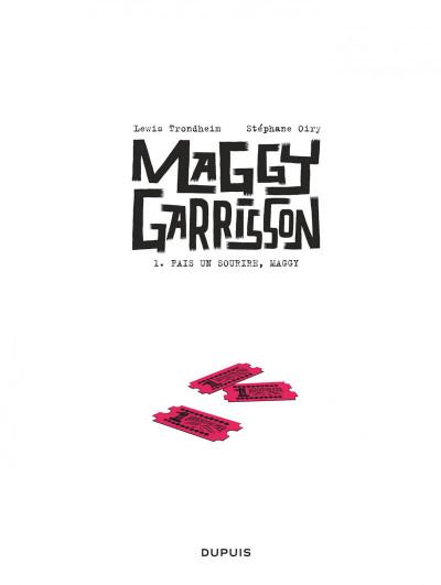 Page 1 Maggy Garrisson tome 1 - Fais un sourire, Maggy