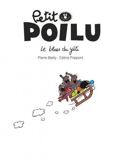 Page 1 Petit Poilu tome 16 - le blues du yéti