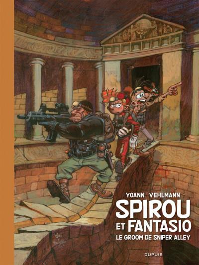 Couverture Spirou et Fantasio tirage de luxe tome 54 - Le groom de Sniper Alley