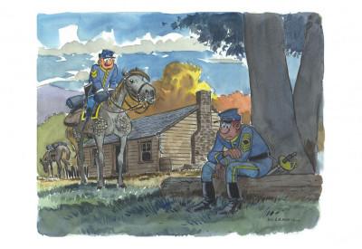 Page 3 Portfolio de Willy Lambil sur les tuniques bleues
