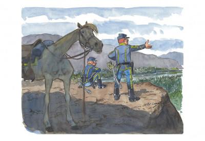 Page 4 Portfolio de Willy Lambil sur les tuniques bleues