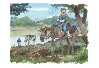 Page 5 Portfolio de Willy Lambil sur les tuniques bleues