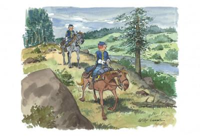 Page 6 Portfolio de Willy Lambil sur les tuniques bleues
