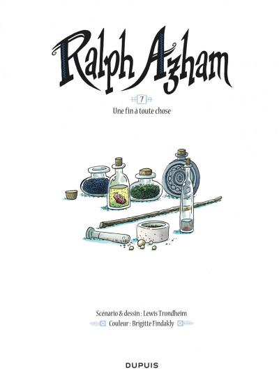 Page 1 Ralph Azham tome 7