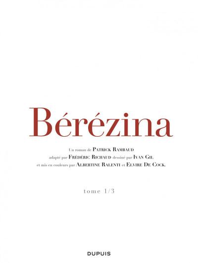 Page 1 Bérézina tome 1