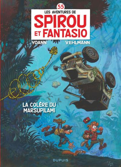 Couverture Spirou et Fantasio tome 55 - La colère du Marsupilami + ex-libris offert