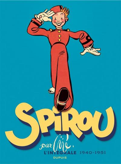 Couverture Spirou intégrale tome 0 - Par Jijé (1940-1951)
