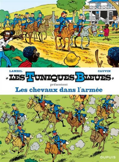 Couverture Les tuniques bleues présentent tome 2 - les chevaux dans l'armée