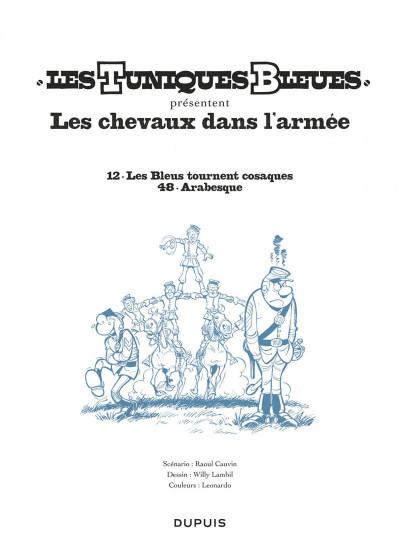 Page 1 Les tuniques bleues présentent tome 2 - les chevaux dans l'armée
