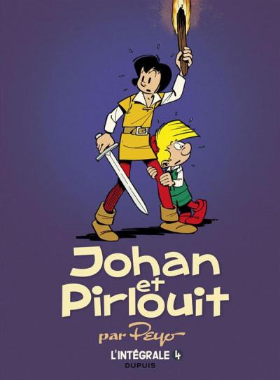 Couverture Johan et Pirlouit intégrale tome 4