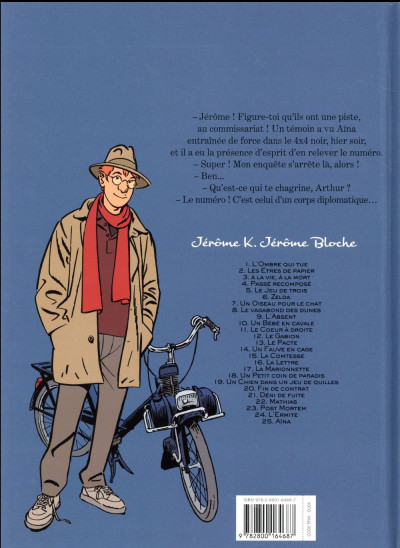 Dos Jérôme K. Jérôme Bloche tome 25 - Aïna