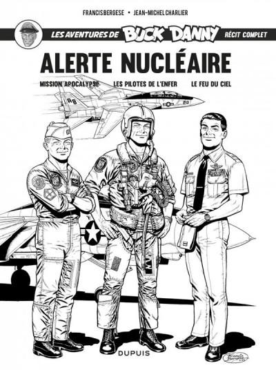 Couverture Buck Danny intégrale - Alerte nucléaire (noir et blanc)