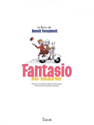 Page 3 Spirou et Fantasio vu par... tome 9 - Fantasio se marie + ex-libris offert