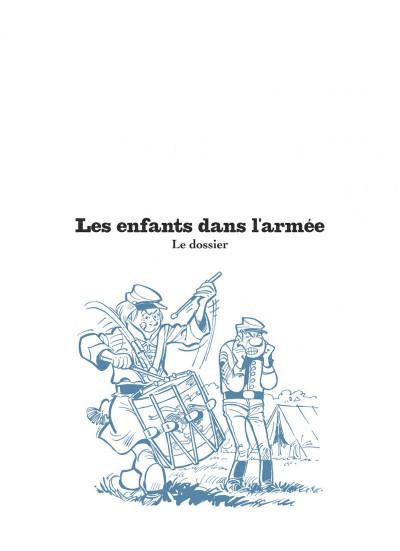 Page 3 Les tuniques bleues présentent tome 6 - Les enfants dans l'armée