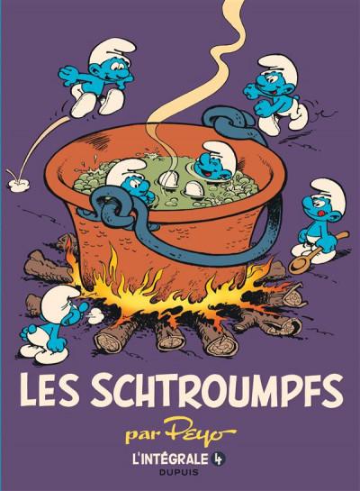 Couverture Les schtroumpfs - intégrale tome 4