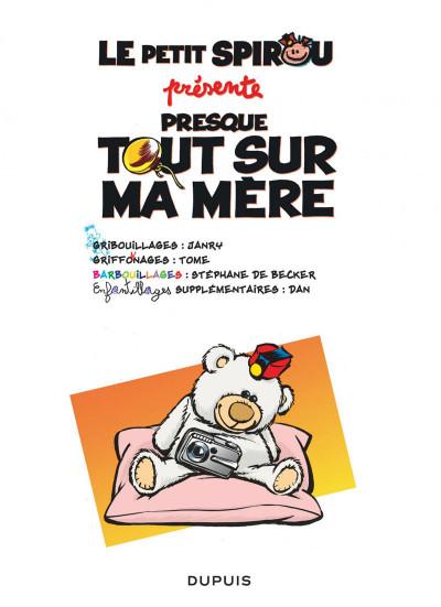 Page 1 Le Petit Spirou présente... tome 7