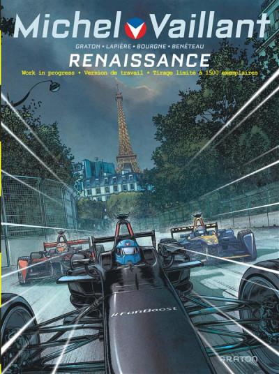 Couverture Michel Vaillant - nouvelle saison tome 5 - Renaissance (work in progress)