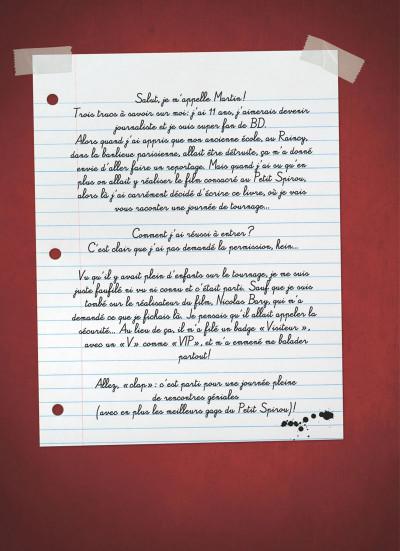 Page 1 Le petit Spirou - La BD du film