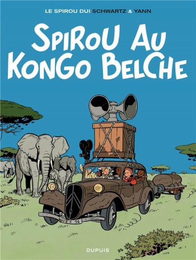 Couverture Spirou et Fantasio vu par... tome 11 - Spirou au Kongo Belche (version bruxelloise)