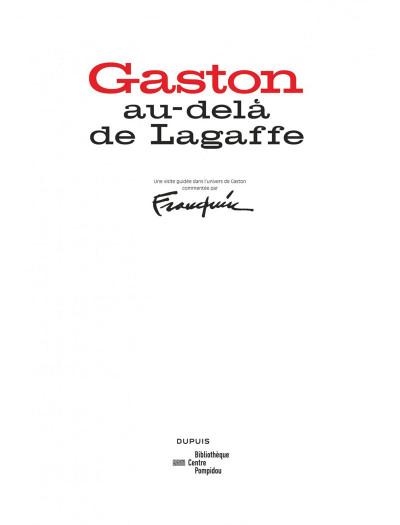 Page 2 Gaston - Au-delà de Lagaffe (catalogue de l'expo à la BPI)