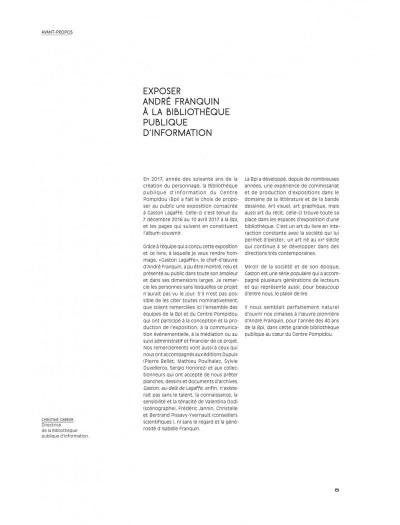 Page 5 Gaston - Au-delà de Lagaffe (catalogue de l'expo à la BPI)